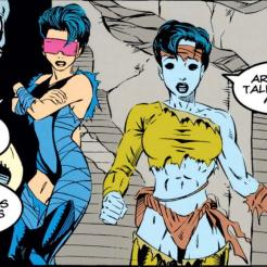 Imagine how confusing it must be to run into Jubilee on alien planets. (X-Men Annual #5)