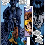 Yeah, Death, you're not gonna impress Cyclops with that. He was raised by Sinister; he's effectively immune to Extra. (Tales from the Age of Apocalypse: By the Light)