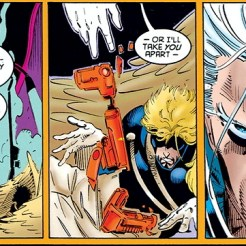 Shaking Angel down for information is an X-Men rite of passage. (Amazing X-Men #3)