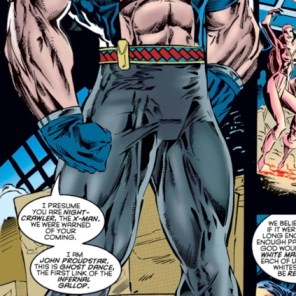 I don't remember Thunderbird having that many muscles or, y'know, being white. (X-Calibre #1)