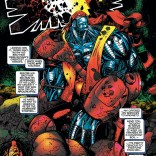 Red and yellow outfit, banded metal skin, muscles on muscles, utterly broken by the world... I guess Earth-295 isn't that different. (Generation Next #1)