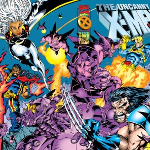 Now, that's a wraparound cover! (X-Men Annual 1995)