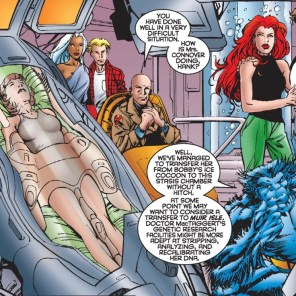 And she's still in that pod today. Somewhere. Probably. (X-Men vs. Brood #1)