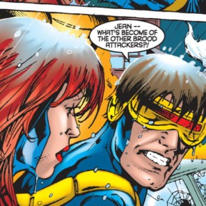 And wet hair! Brian Hitch is a treasure. (X-Men vs. Brood #1)