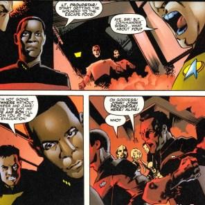 Well, he's doomed. (Star Trek: The Next Generation / X-Men: Second Contact)