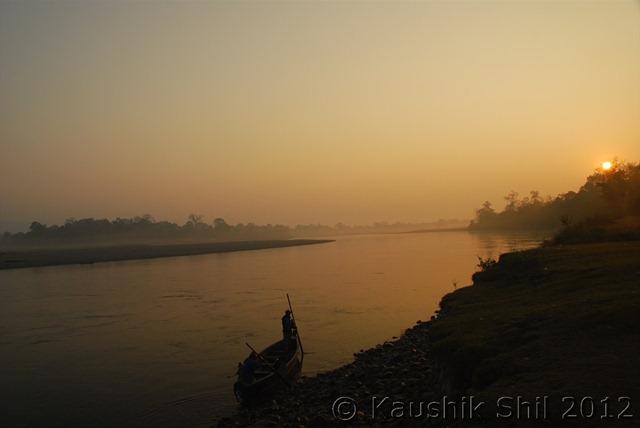 Sun Rise in Jiabharali River, Bhalukpong, West Kameng, Arunachal Pradesh, India