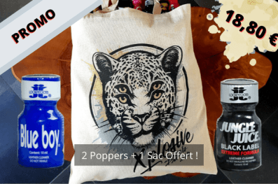 PROMO SAC SHOPPING XPLOSIVE POPPERS BLUE BOY JUNGLE JUICE BLACK LABEL PAS CHER ET PUISSANT