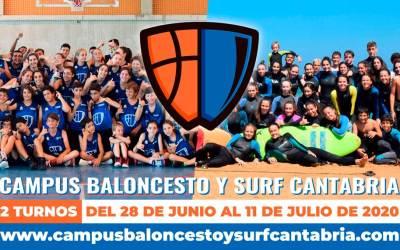 Adelantamos la apertura de matrículas al Campus Baloncesto y Surf Cantabria 2020