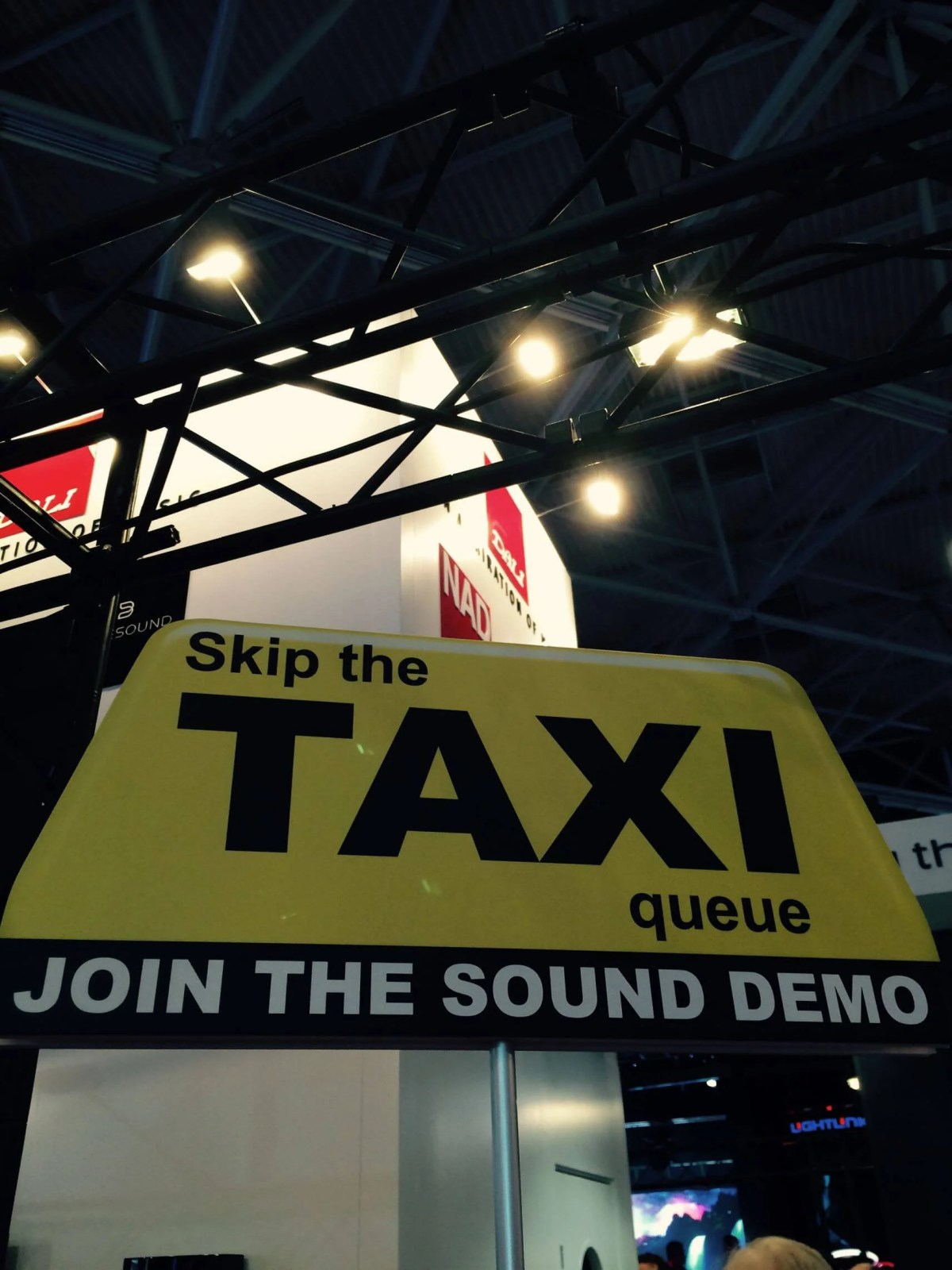 ISE 2015_Taxi sign