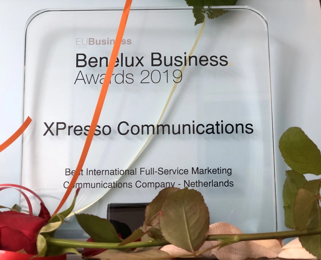 Benelux-Business-Awards-2019-Xpresso Communications-Best-Integrated-PR-Marketing-company-International-Netherlands