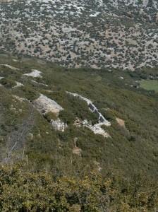 Γραμμή μάχης χαμηλά στην ανατολική πλευρά του οχυρού Γ.