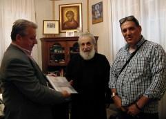 Ο Βαγγέλης Παππάς επισκέφθηκε τον Σεβασμιότατο Μητροπολίτη κ.κ. Προκόπιο