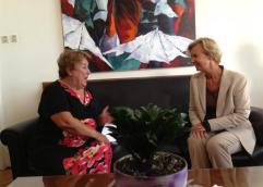 Τη Σουηδή πρέσβη, Σ. Ράνγκμπεργκ, υποδέχτηκε στο γραφείο της η δήμαρχος Καβάλας, Δ. Τσανάκα