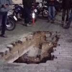 Βούλιαξε ο δρόμος στην παραλιακή της Καβάλας – Κλειστή η κυκλοφορία των οχημάτων