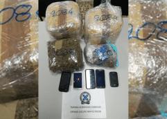 Συνελήφθησαν 2 άτομα με πάνω από 5,5 κιλά ακατέργαστης κάνναβης