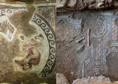 Τα εντυπωσιακά ψηφιδωτά δάπεδα, τα οποία βρέθηκαν στη νότια είσοδο του σταθμού Αγίας Σοφίας