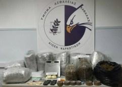 Τμήμα Ασφάλειας Καβάλας: Κατασχέθηκαν περισσότερα από 45 κιλά ακατέργαστης κάνναβης και 207 γραμμάρια κοκαΐνης