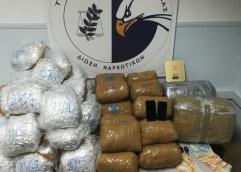 93 περίπου κιλά ακατέργαστης κάνναβης κατασχέθηκαν στο πλαίσιο οργανωμένης επιχείρησης του Τμήματος Ασφάλειας Καβάλας