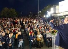 Κατακλύστηκε από κόσμο το εκλογικό κέντρο του Βαγγέλη Παππά στην κεντρική προεκλογική ομιλία