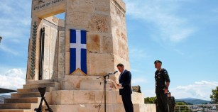 Ο ΥΕΘΑ Νίκος Παναγιωτόπουλος στην επιμνημόσυνη δέηση υπέρ των πεσόντων Καταδρομέων