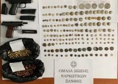 ΞΑΝΘΗ: Συνελήφθη για παραβάσεις των νόμων περί όπλων, περί προστασίας αρχαιοτήτων και περί αθλητισμού