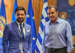 Συνάντηση με Υπουργό Εθνικής Άμυνας κ. Νίκο Παναγιωτόπουλο για τα εν ενεργεία ευρωπαϊκά έργα που εκτελεί η ΠΑΜ-Θ και την συνεργασία με το υπουργείο του