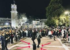 Μέρες καρναβαλιού στη Ξάνθη, με τον κόσμο να γεμίζει την πλατεία!!! Τους διέλυσε η αστυνομία.