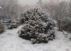 Χιονίζει στα ορεινά της Καβάλας