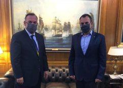 Συνάντηση του Δημάρχου Θάσου με τον Υπουργό Εθνικής Άμυνας