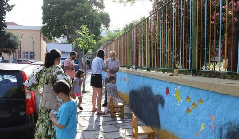 Γέμισαν σχέδια και χρώματα οι τοίχοι του 8ου Βρεφονηπιακού Σταθμού του Δήμου Καβάλας