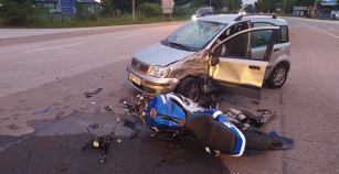 Τροχαίο ατύχημα με δύο τραυματίες στον Αμυγδαλεώνα
