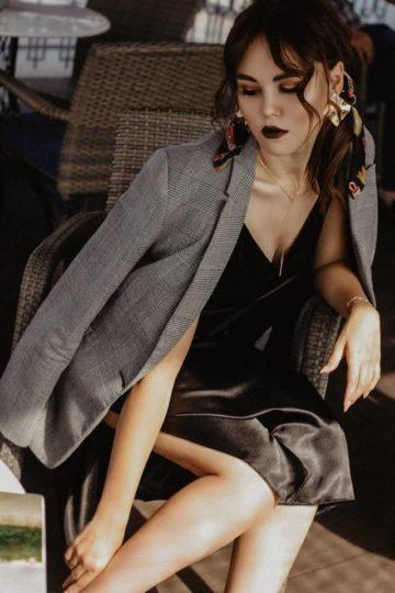 Blazer associé à une robe