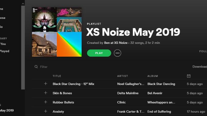 PLAYLIST: XS Noize May 2019