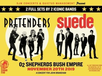 THE PRETENDERS & SUEDE Will Co-Headline a Very Special Benefit Show at London's O2 Shepherds Bush Empire on November 20th