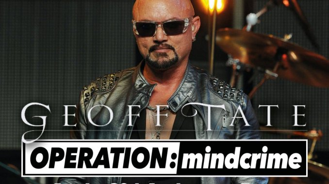 Legendary US vocalist GEOFF TATE and his OPERATION MINDCRIME BAND return to Belfast at Limelight 2 on Sunday 24th May 2020 1