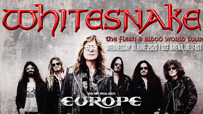 WHITESNAKE bring their Flesh & Blood World Tour to The SSE Arena, Belfast on 10th June with special guest Europe!