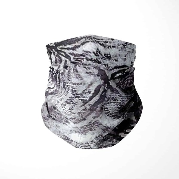 Gray Zebra Print Fashion Gaiter