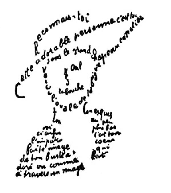 Cal·ligrama d'Apollinaire