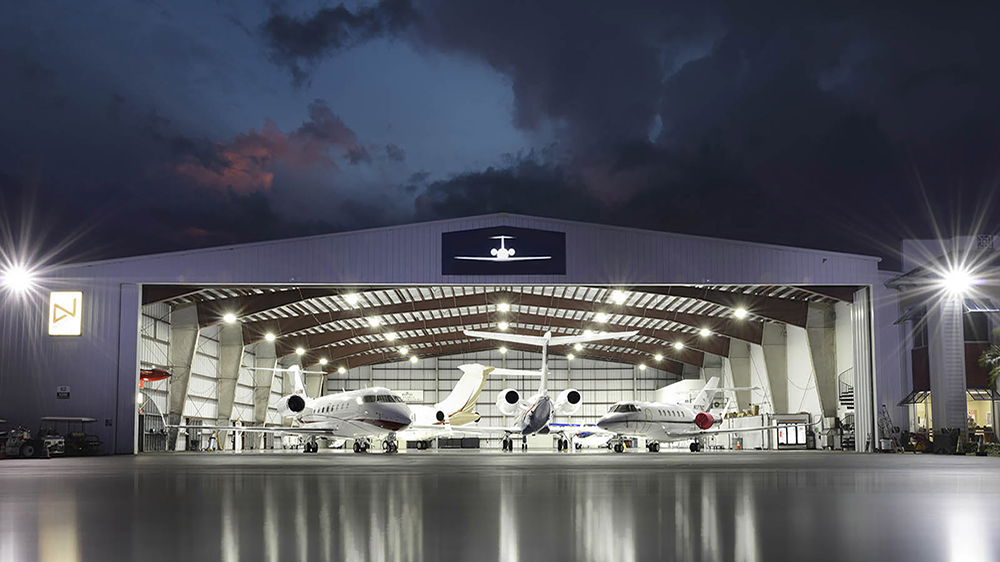 XtraLight LHB LED High Bay Hangar Application