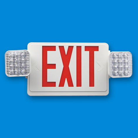 LED Exit Emergency Light Combo
