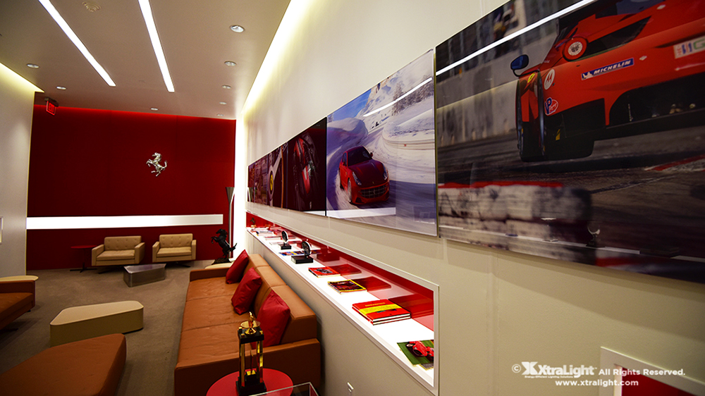 XtraLight Recessed Architectural Linear LED Luminaire Ferrari Case Study