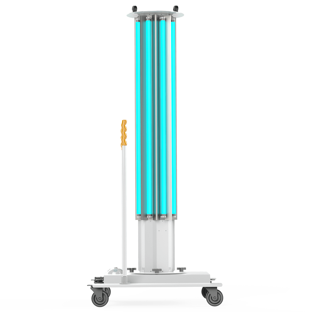 UVC Mobile Disinfection System Side View XtraLight Manufacturing, LTD.