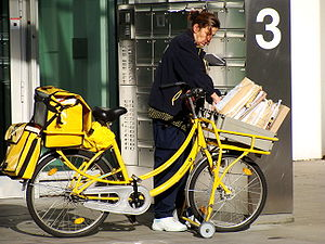 Postal delivery by bicycle