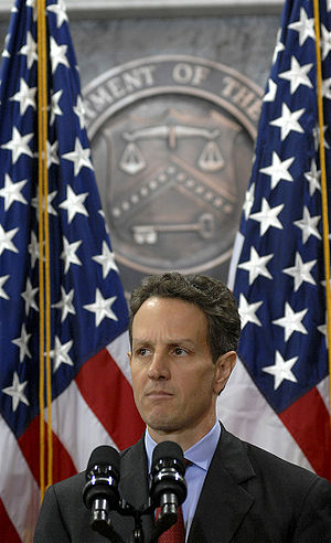 Timothy Geithner at the United States Departme...