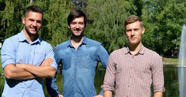 Die LEKIO-Gründer (v.l.n.r.) Joel De Marco, Tobias Mähl und Lukas Bücking)