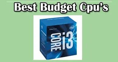Best budget cpu's
