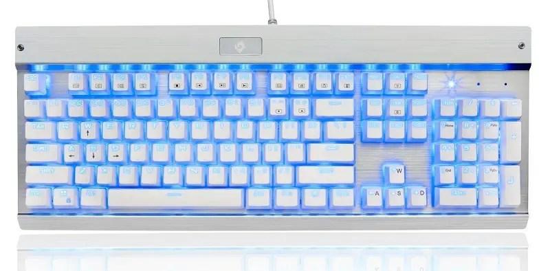 EagleTec KG011 Office Industrial LED Backlit Mechanical Keyboard