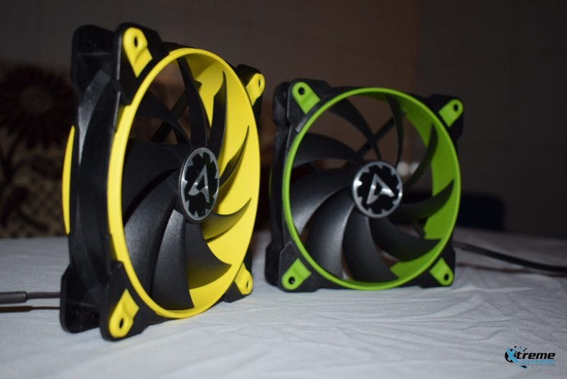 Arctic BioniX F120 gaming fan yellow and green