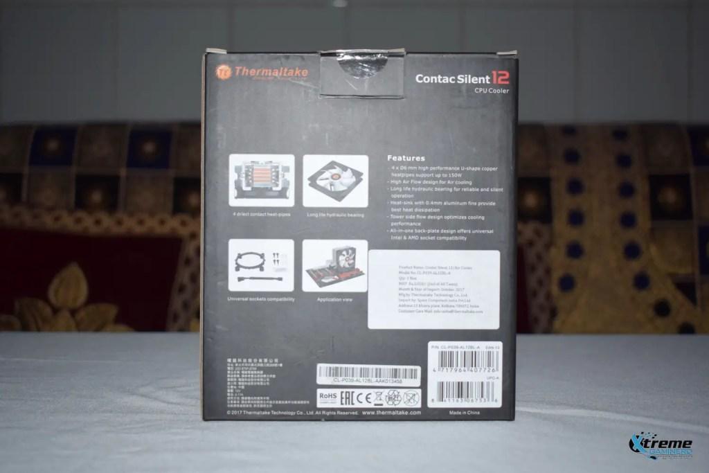 Thermaltake Contac Silent 12 box back