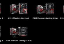 ASRock Z390 chipset Phantom Gaming motherboards